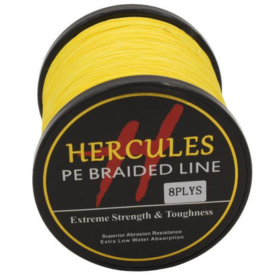Colored Braided Fishing Line - Yellow