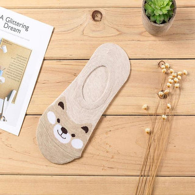 Women's Cartoon Sock - Bear