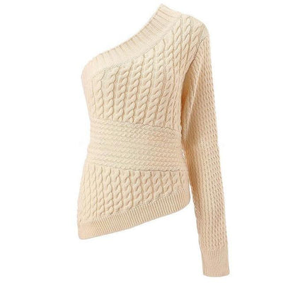 Trendy One Shoulder Sweater -
