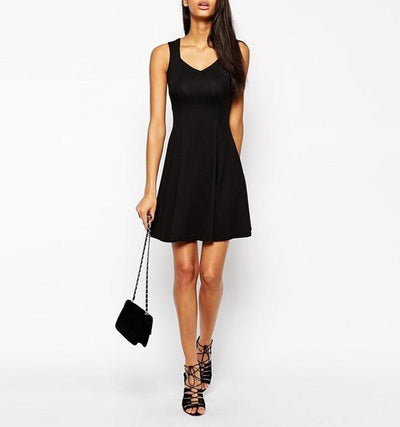 Comfy Summer Dress - black / S