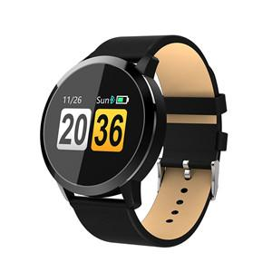 Q8 Round Smart Band Watch - Black