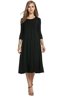 Casual 3/4 A-Line Dress -