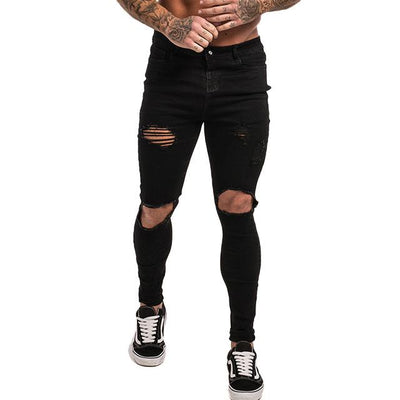 Slim-Fit Ripped Jeans - black hole multi / 28