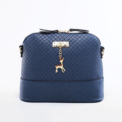 Soft Leather Bag for Women - deep blue