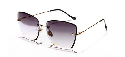 Kiara Rimless Sunglasses - Black