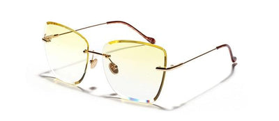 Kiara Rimless Sunglasses - Yellow