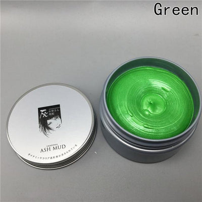 Temporary Color Hair Wax - green