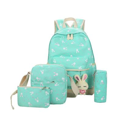 Bunny School Bag Set - green