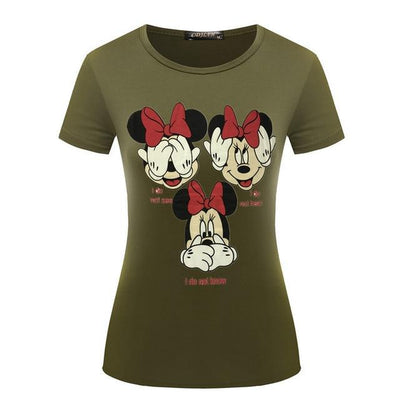 Minnie Mouse Tees - green / S