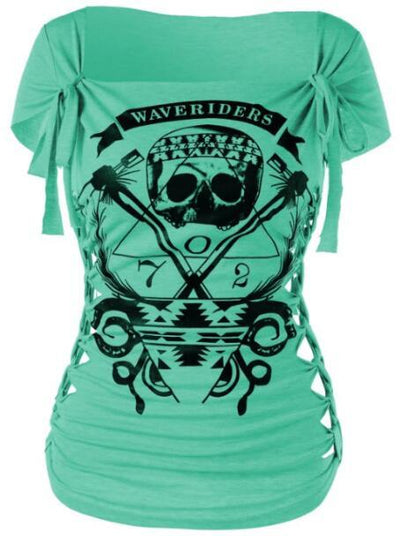 Waverider Braided Tee - green / M