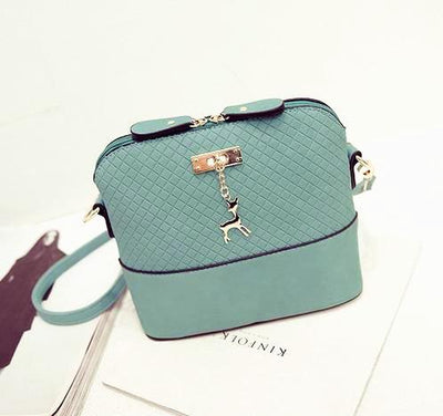 Soft Leather Bag for Women - mint green
