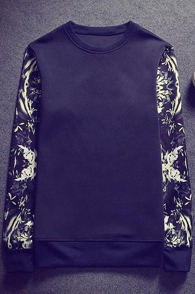 Sublimation Sleeve Pullover - navy / S