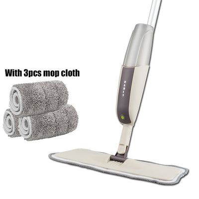 Spray Floor Mop with Reusable Microfiber Pads - one mop 3 mop cloth