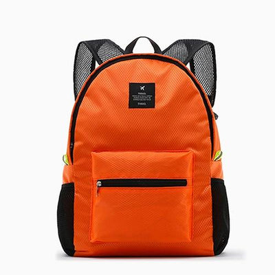 Waterproof School Backpack - orange