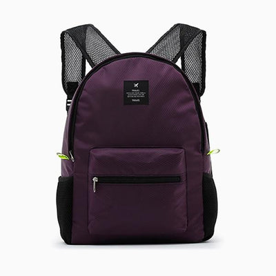Waterproof School Backpack - purple