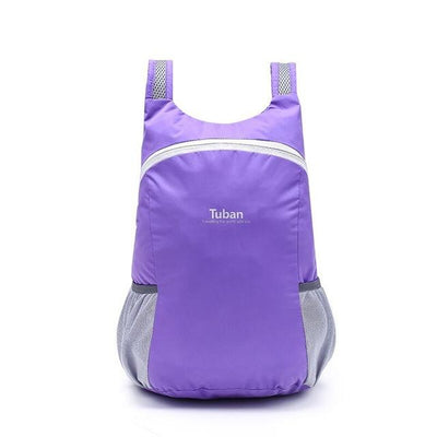 Waterproof Folding Backpack - purple