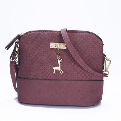 Soft Leather Bag for Women - purple red