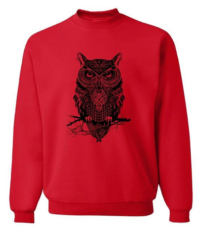 Owl Sweatshirt - red8 / S