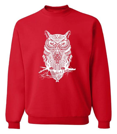 Owl Sweatshirt - red / S