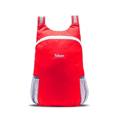 Waterproof Folding Backpack - red