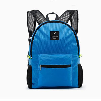 Waterproof School Backpack - sky blue