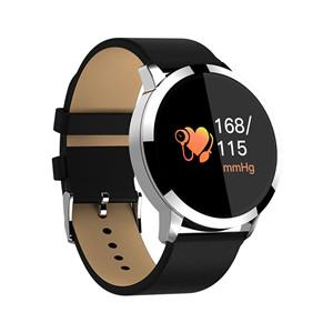 Q8 Round Smart Band Watch - Black Silver