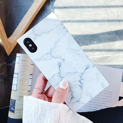 Marble Texture Pattern iPhone Case - white / for iPhone 6 6S