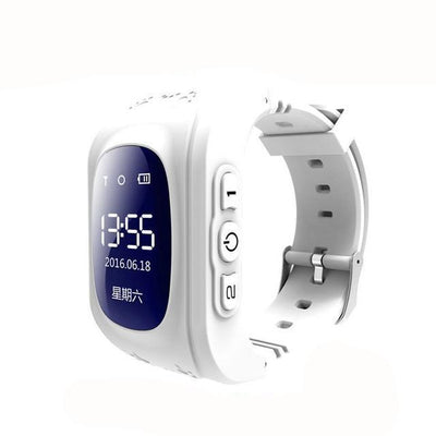 Anti-Lost Smart Watch - white color / English GPS Version