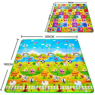 Baby play mat - Zoo letters / 180cmX120cmX5mm
