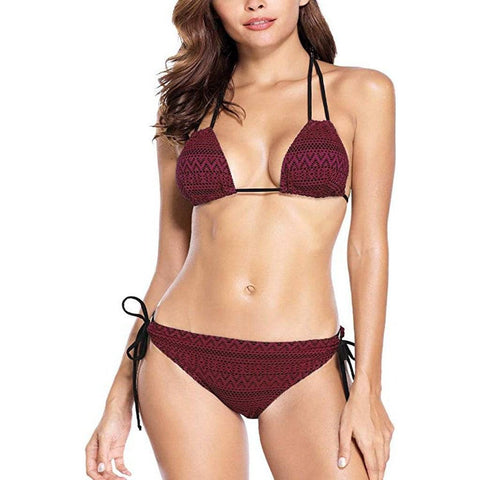 Triangle Crochet Bikini Set - E11even Fashion