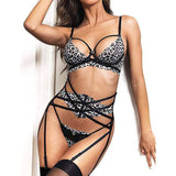 Push Up Bra and G-String Corset Bodysuit