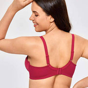 Lace Non Padded Minimizer Bras - Red