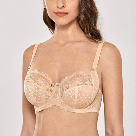 3Section Unlined Minimizer Underwire Bra - Ivory/Rum Raisin