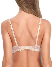 Lace Underwired Unlined Bra - Nude
