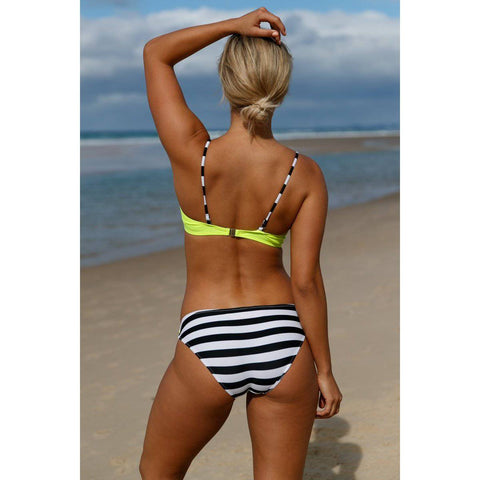 Spaghetti Strap Push Up Padded Bikini Set