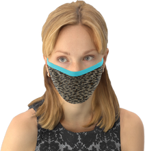 MOONLIT PLANET Two-Layer Washable Fashion Face Mask: LEOPARD