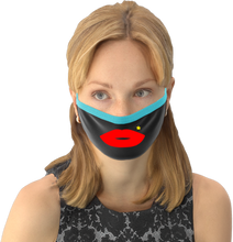 MOONLIT PLANET Two-Layer Washable Fashion Face Mask: RED LIP