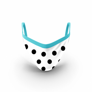 MOONLIT PLANET Two-Layer Washable Fashion Face Mask: POLKA DOT