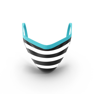 MOONLIT PLANET Two-Layer Washable Fashion Face Mask: STRIPE