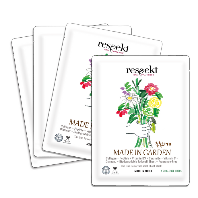 RESPEKT BOX: Organic Sheet Mask - Anti-Aging, Collagen Boost, Pore Tightening