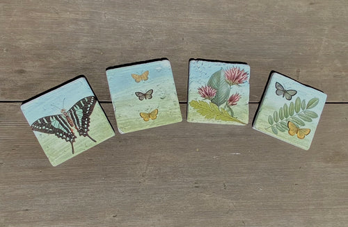 Fern and Butterfly Coasters