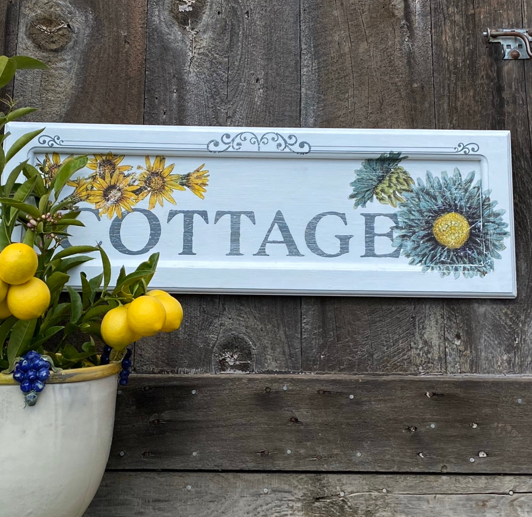 Flowered Cottage Sign