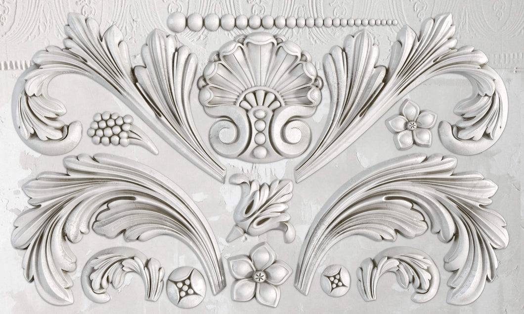Acanthus Scroll Décor Mould 6x10