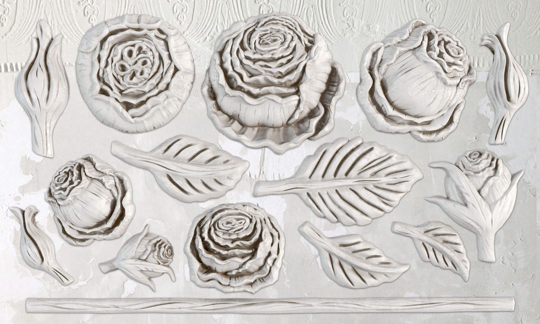 Heirloom Roses Décor Mould 6x10
