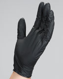 Textured Black Latex Gloves
