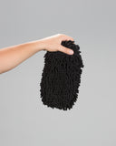 Black Chenille MF Wash Mitt - Ultra Plush - Rinseless Or Tradition Wash