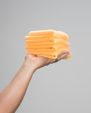 Orange Ultra Plush MF Towel
