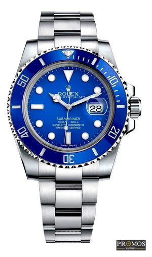 Submariner Silver Style & 3*colors Dial-Automatic Movement Blue Watches