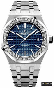 Royal Oak Silver Style &-Blue Diamond Dial-Automatic Movement Watches