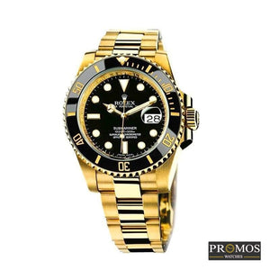 Submariner Gold Style & 2* Colors Dial-Automatic Movement Black Watches